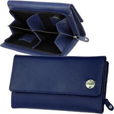 CHIEMSEE Navy Blue Damen Geldbörse Leder Blau Geldbeutel Portemonnaie Geldtasche