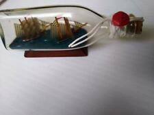 2 Ships In a Bottle 4.5 inches long