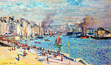Port of Le Havre A1 by Claude Monet High Quality Canvas Print