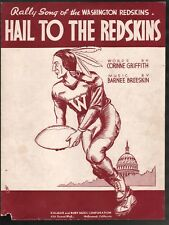 Hail to the Redskins 1938 Sheet Music