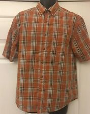 Wolverine Size Medium Short Sleeve Brick Plaid Button Down Shirt