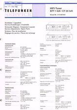 Telefunken STT-1 CT-20 Tuner  Schaltplan Manual ORIGINAL 22 Seiten