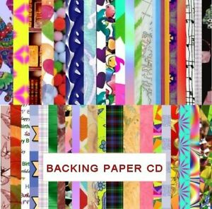 Backing Papers CD , 3700 Sheets for Card Making etc ,Toppers, Craft Menu Driven