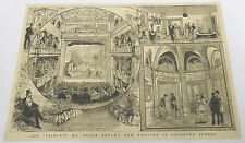 1884 magazine engraving ~ Prince of Whales Theatre ~ Edgar Bruce Coventry street