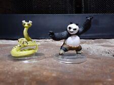 Tomy ~ Kung Fu Panda ~ Master Viper & Po Figures (Lot Of 2 Figures)