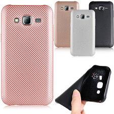 Luxury Soft TPU Silicone Carbon Fiber Case Cover For Samsung Galaxy J7 J5 J3 J2