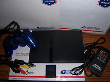 Black Sony PS2 PlayStation 2 Slim Console System Complete Bundle Lot Work Great!