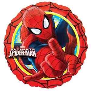 Marvel Spiderman super Hero  X 4 Balloons Cartoon helium party birthday Foil