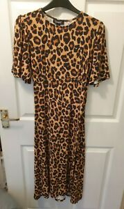 New Look maternity leopard print dress size 10