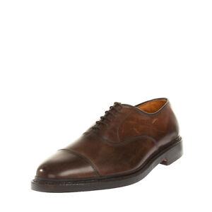 RRP €360 ALLEN EDMONDS Leather Oxford Shoes EU 41.5 UK 7.5 US 8 Made in U.S.A.