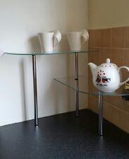 Estantería de Vidrio de 2 niveles-Ideal para el almacenamiento de información adicional en baños/cocinas