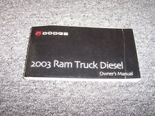 2003 Dodge Ram 1500 2500 3500 Diesel Truck Owner Owner's Manual Laramie SLT ST