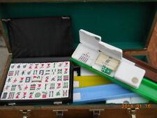 VINTAGE MAH JONG mahjong SET 151 TILES Case Racks counters instructions