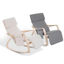 Comfortable Modern Furniture Rocking Lounge Chair Recliner w/Adjustable Footrest