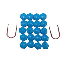20pcs 17mm Car Wheel Trims Nut Plastic Blue Caps Bolts Cover Nuts Cap Tool I7D6