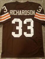 Trent Richardson Cleveland Browns Signed Autographed Jersey JSA Certified COA