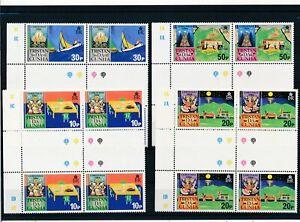 [G28215] Tristan Da Cunha 1984 christmas 4x good set very fine MNH stamps