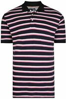 MENS Kam  BIG & TALL Mini Stripe Polo Shirt in Navy  3XL 4XL 5XL 6XL 7XL 8XL