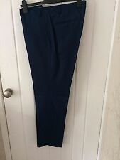 Kin by John Lewis Maddox Hopsack Trousers, Teal, Size 38R. RRP £50