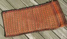 "Tribal nomad woven utility bag pillow pad wool migratory herders 30"" x 14"""