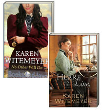 No Other Will Do & Heart on the Line by Karen Witemeyer (2 Paperback Set)New rm*