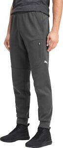 Puma evoStripe Warm Mens Joggers Grey Slim Gym Training Workout Pants Sweatpants