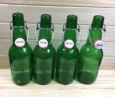 Grolsch Beer Bottles Swing Top Resealable Green 15.2 Ounces Home Brewery Lot 4