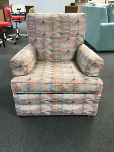 1960's Retro Multicolored Reclining Armchair