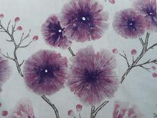Harlequin Curtain Fabric 'Kabala' 3 METRES Pink/Damson - Amazilia Linen Blend