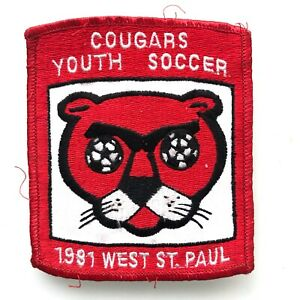 "Vintagw 1981 West St. Paul Minnesota Youth Soccer Cougars 3.75"" x 4.25"""