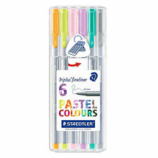 STAEDTLER triplus fineliner 334 SB6CS1 containing 6 assorted PASTEL colours SET
