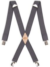 Dickies Men's 1-1/4 Solid Straight Clip Suspender, Charcoal, One Size 🔥🔥