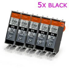 5x BLK Ink PGI520 BK+Chip for Canon MP640 MP620 MP630 MX870 IP3600 IP4700 MP550