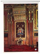 Postcard: Chair of State, Queen's Robing Room, Palace of Westminster, London