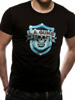 LA Guns Shield Logo T Shirt Official S M L XL