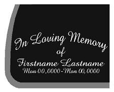 CUSTOM In Loving Memory RIP Car Decal / Sticker
