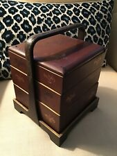 Antique Japanese Lacquerware Bento Stacking Box