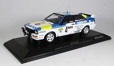 "Audi Quattro ""Audi Sport Sweden"" Blomquist/Cederberg Sweden 1982 Minichamps 1/18"