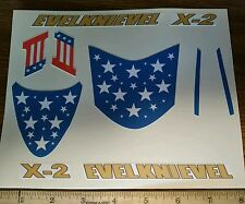 "CUSTOM ""Evel""  X-2 CANYON SKY CYCLE  STICKERS"