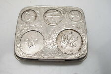 ANTIQUE SILVER PLATED COIN HOLDER DISPENSER