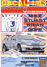 DECAL 1/43 ROVER 3500 VITESSE MIKE STUART MANX R. 1985 DnF (01)