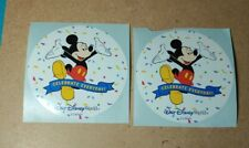 Official Disney Stickers - WDW - Lot of 2 - Celebrate Everyday