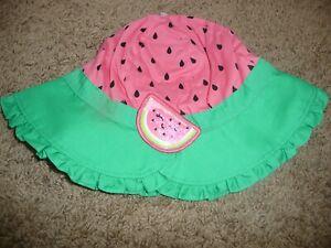 NEW NWT Childrens Place girls 24 months-3T pink watermelon sun bucket hat