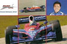 2006 KOSUKE MATSUURA signed INDIANAPOLIS 500 PHOTO CARD POSTCARD INDY CAR HONDA