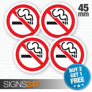 4 x No Smoking Stickers 45mm waterproof vinyl signs window car taxi van shop