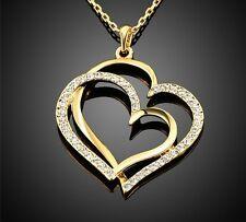 Collar / Colgante ORO AMARILLO.Corazon Crystal Austriaco .Alta Calidad.Precioso
