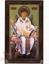 "Wooden Icon of Saint Spyridon Икона Святой Спиридон Тримифунтский 4.6"" x 7.5"""