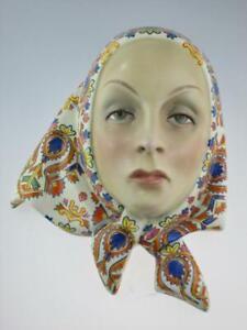 Art Deco Lenci Pottery Mask By Helen Konig Scavini Torino Circa 1930 Italy