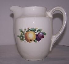 """New listing Vintage Cream Porcelain Small Pitcher Fruit 6"""" Grapes Decorative Collectible"""