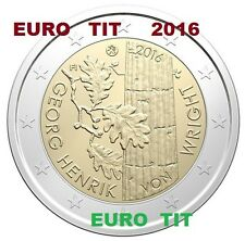 2 €   FINLANDE  1  X COMMEMORATIVE  NOUVEAU   VON  WRIGHT     2016    disponible